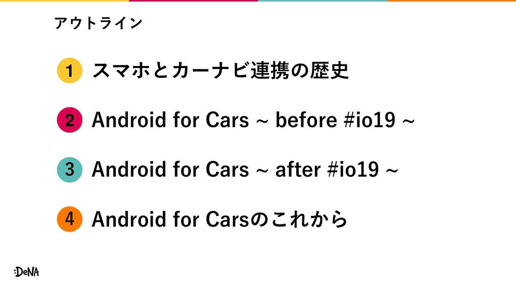 アウトライン スマホとカーナビ連携の歴史 Android for Cars ~ before ...