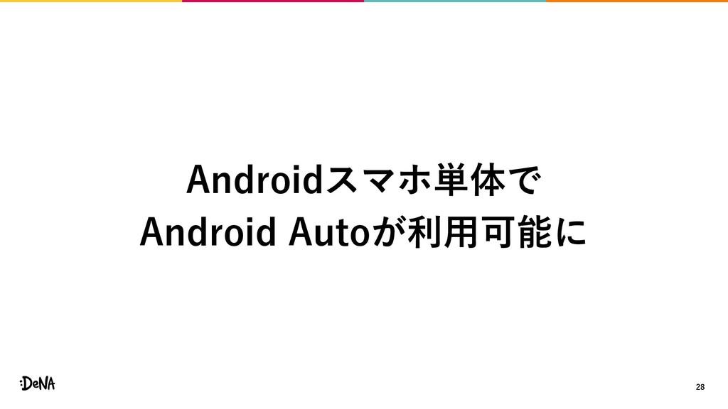 28 Androidスマホ単体で Android Autoが利用可能に