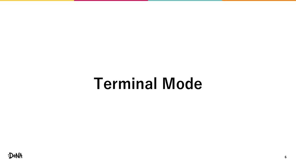 6 Terminal Mode