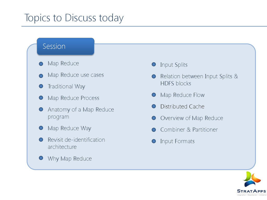 Topics to Discuss today Map Reduce Map Reduce u...