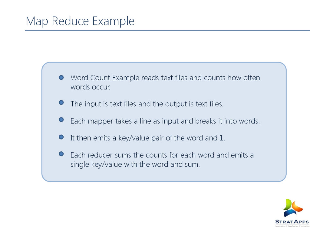 Map Reduce Example Word Count Example reads tex...