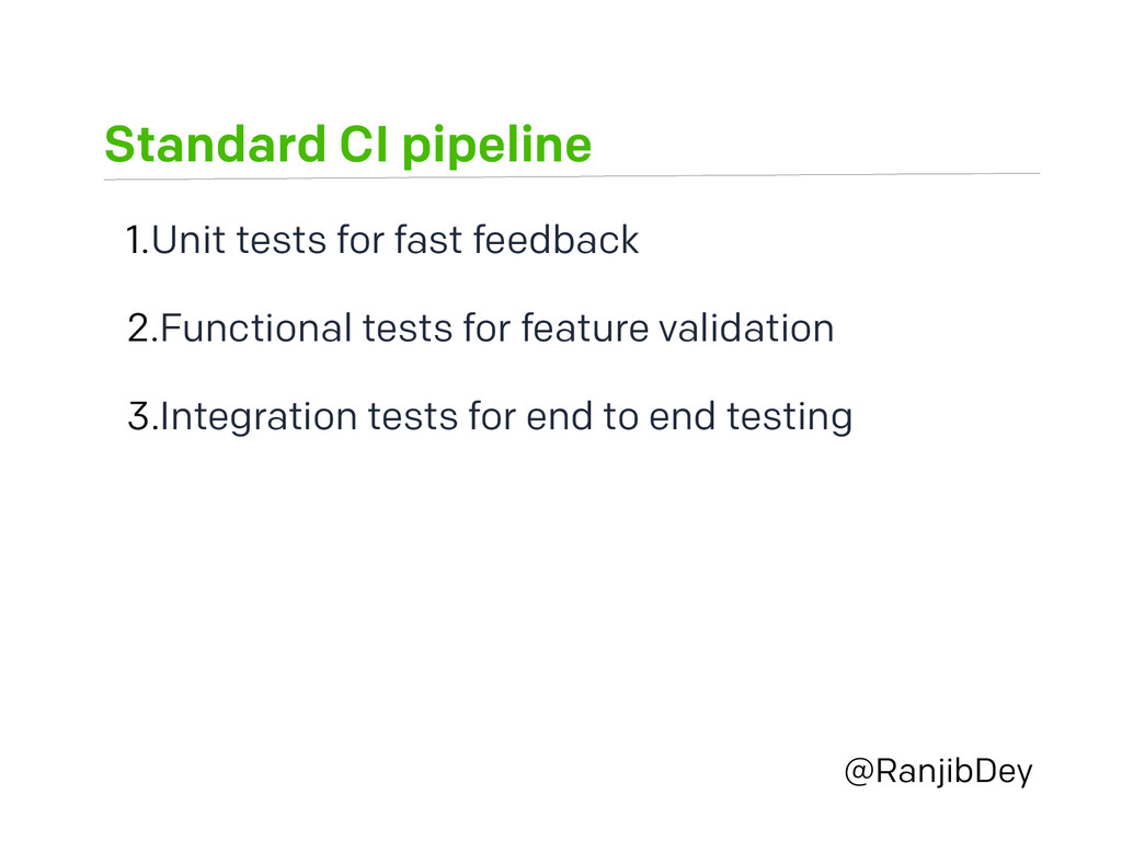 Standard CI pipeline @RanjibDey 1.Unit tests fo...