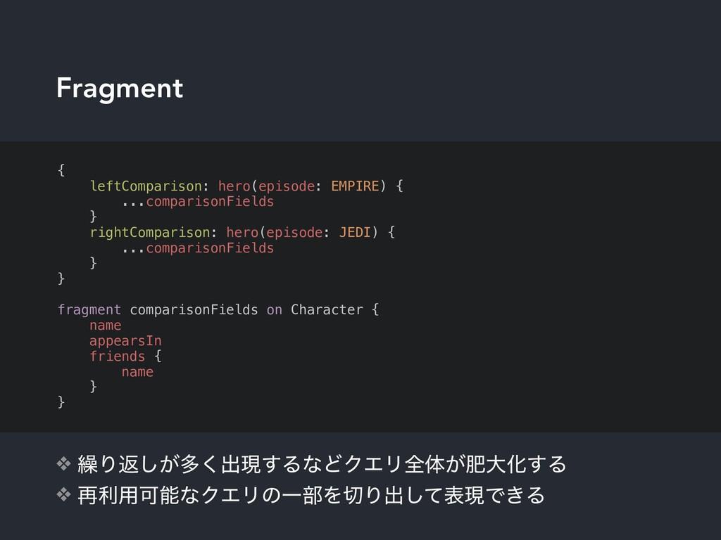 Fragment ❖ ܁Γฦ͕͠ଟ͘ग़ݱ͢ΔͳͲΫΤϦશମ͕ංେԽ͢Δ ❖ ࠶ར༻ՄͳΫΤϦ...
