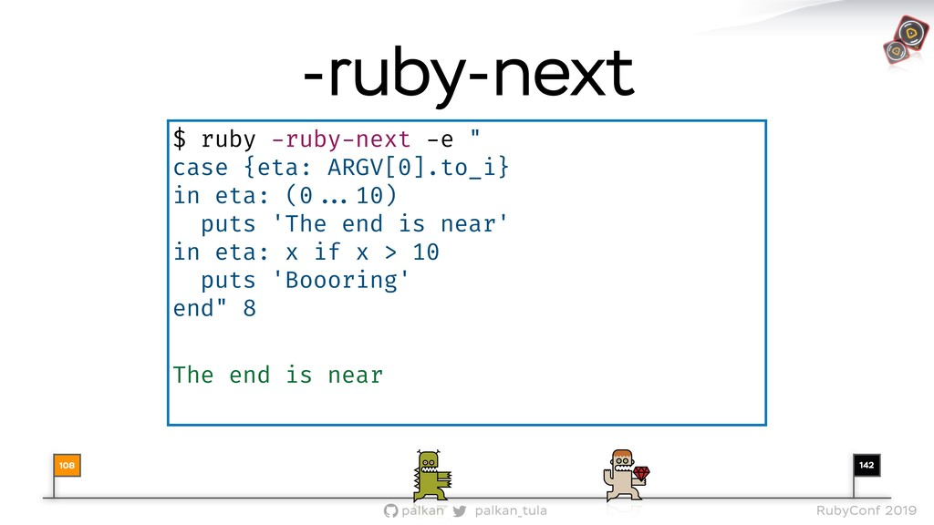 142 palkan_tula palkan RubyConf 2019 $ ruby -ru...