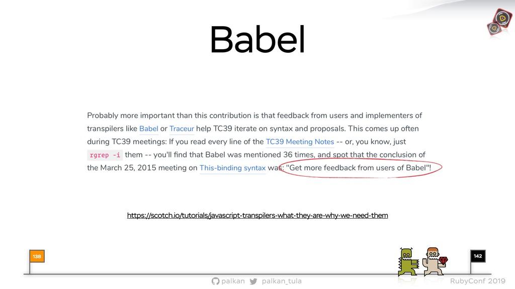 142 palkan_tula palkan RubyConf 2019 Babel 138 ...