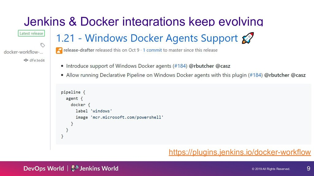 © 2019 All Rights Reserved. 9 Jenkins & Docker ...