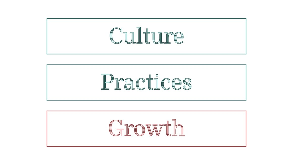Practices Culture Growth