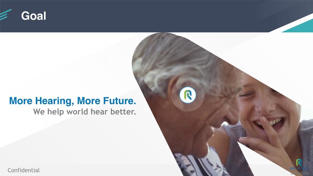 Goal !12 More Hearing, More Future. We help wor...