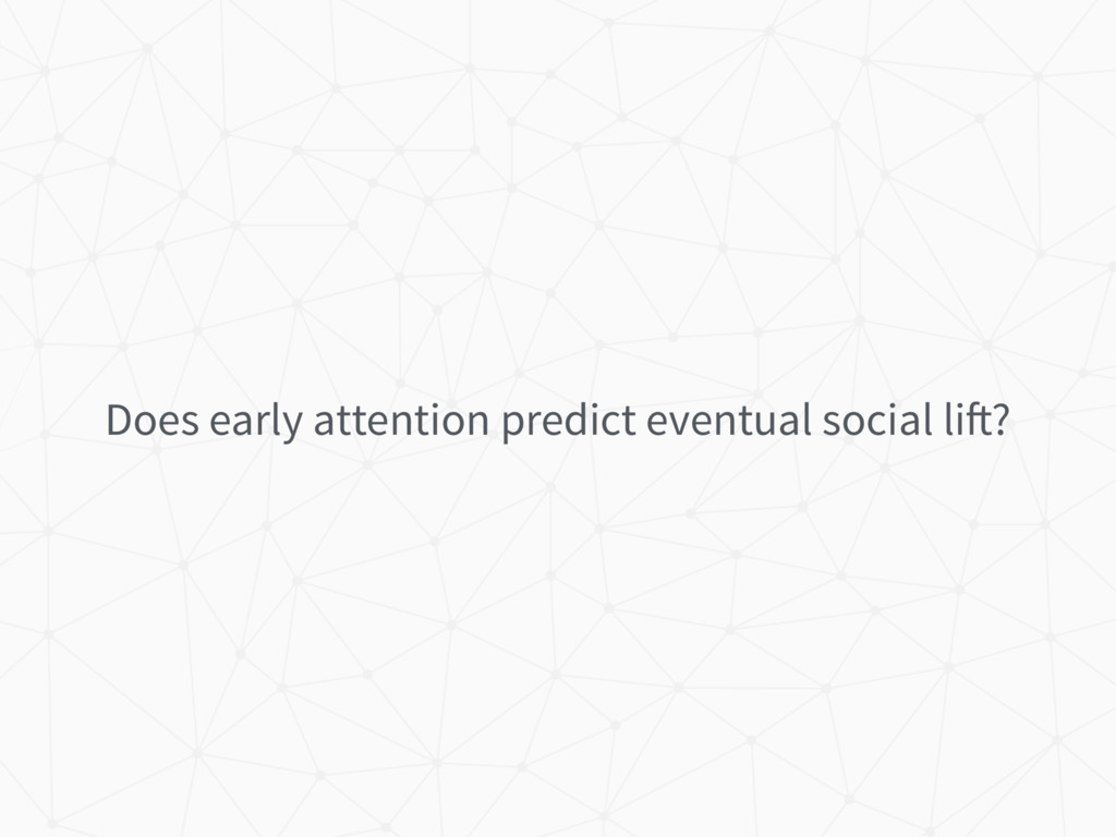 Does early attention predict eventual social li...