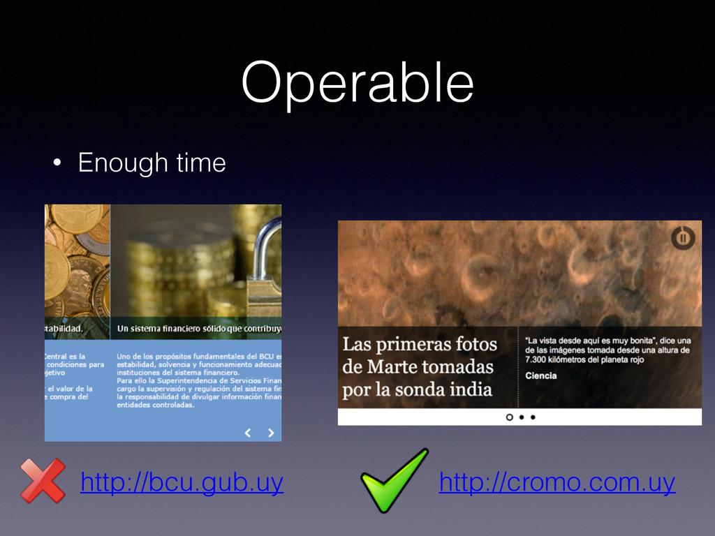 Operable • Enough time http://bcu.gub.uy http:/...