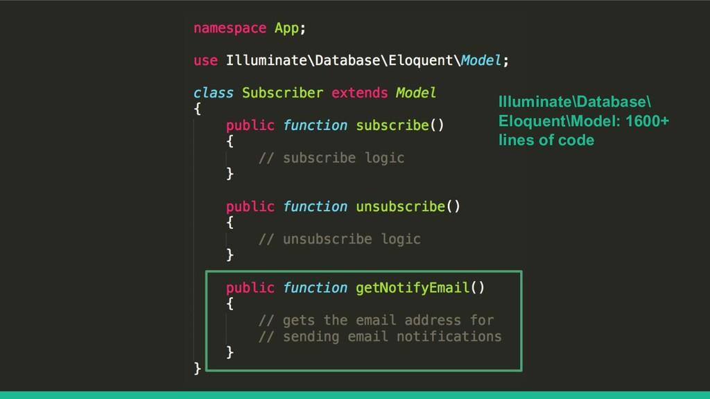 Illuminate\Database\ Eloquent\Model: 1600+ line...