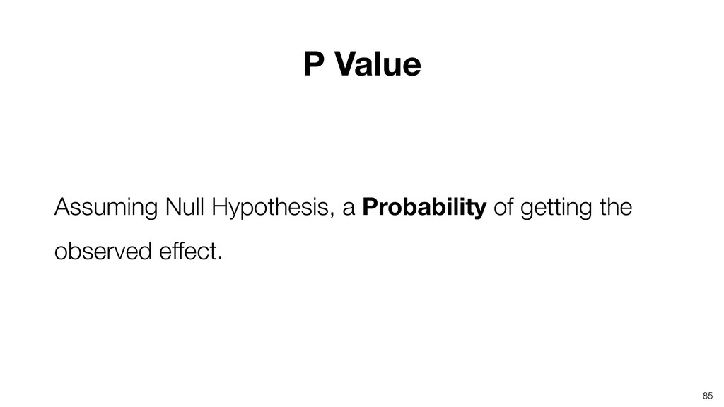 Assuming Null Hypothesis, a Probability of gett...