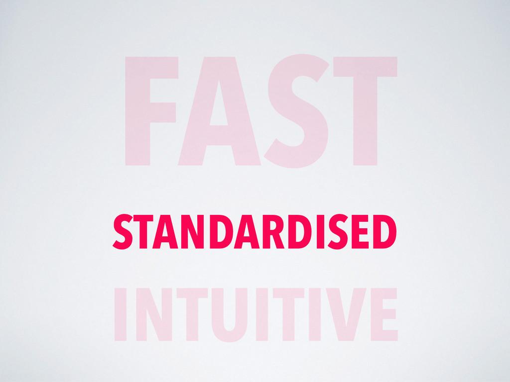 FAST STANDARDISED INTUITIVE