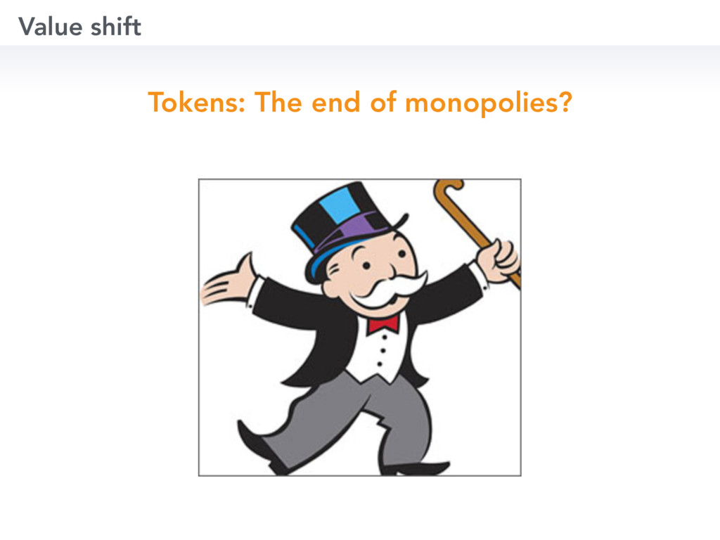 Value shift Tokens: The end of monopolies?