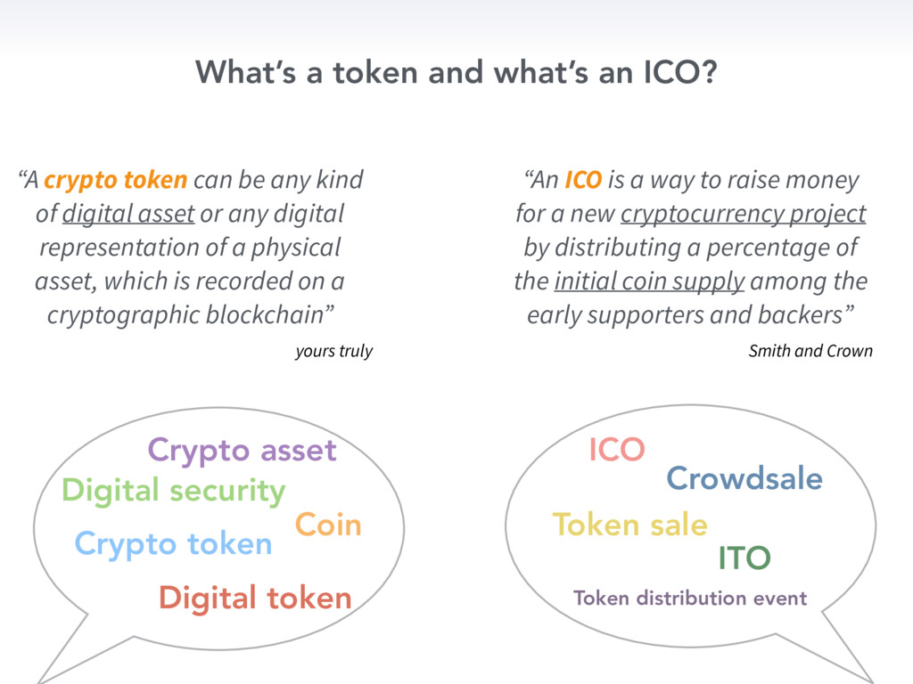 What's a token and what's an ICO? Crypto token ...