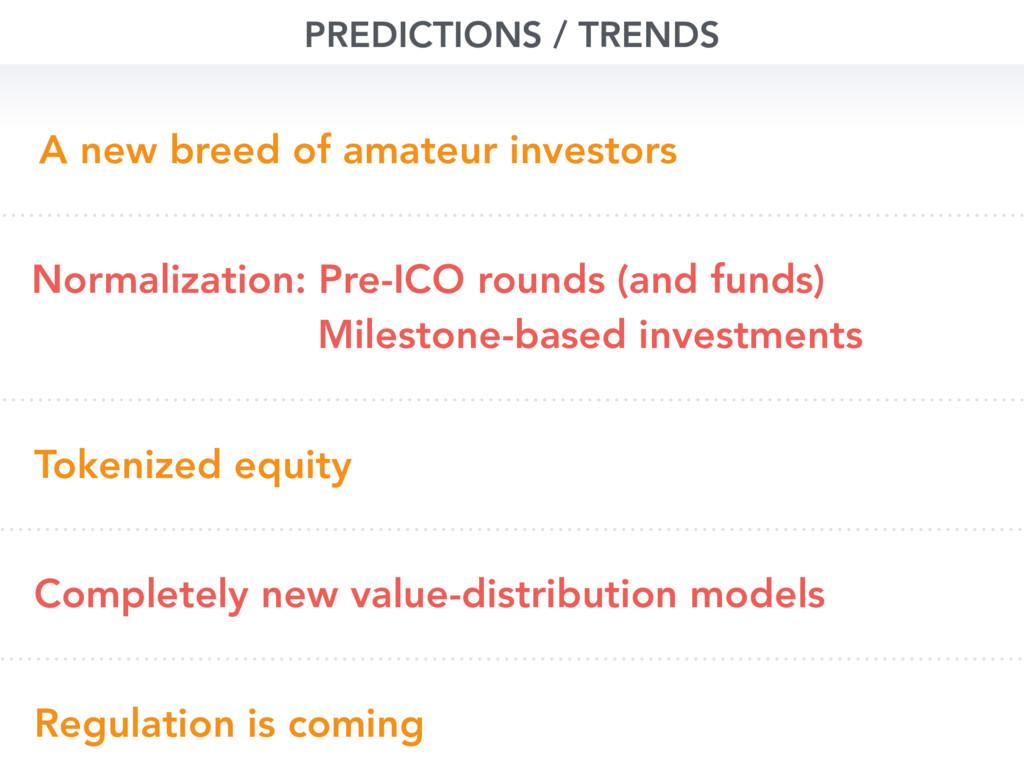 PREDICTIONS / TRENDS Normalization: Pre-ICO rou...