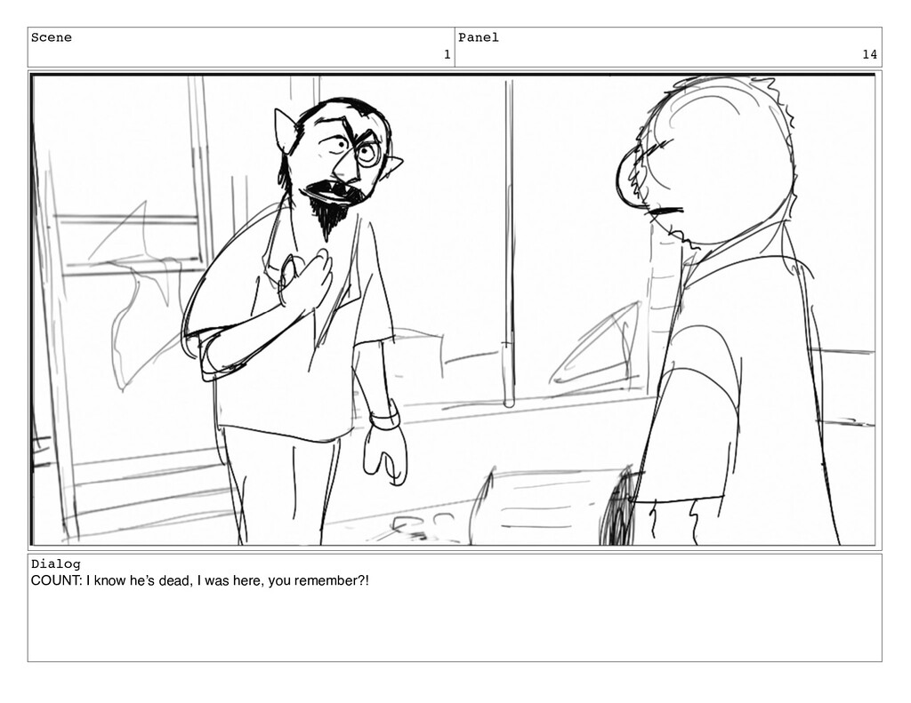 Scene 1 Panel 14 Dialog COUNT: I know he's dead...