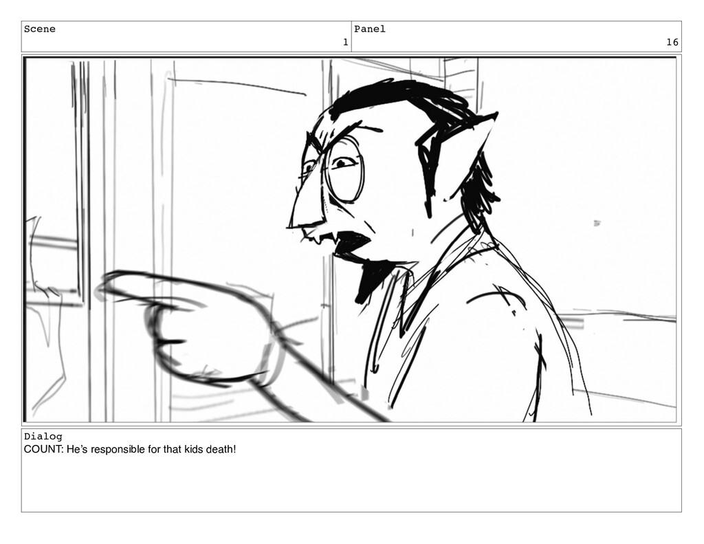 Scene 1 Panel 16 Dialog COUNT: He's responsible...
