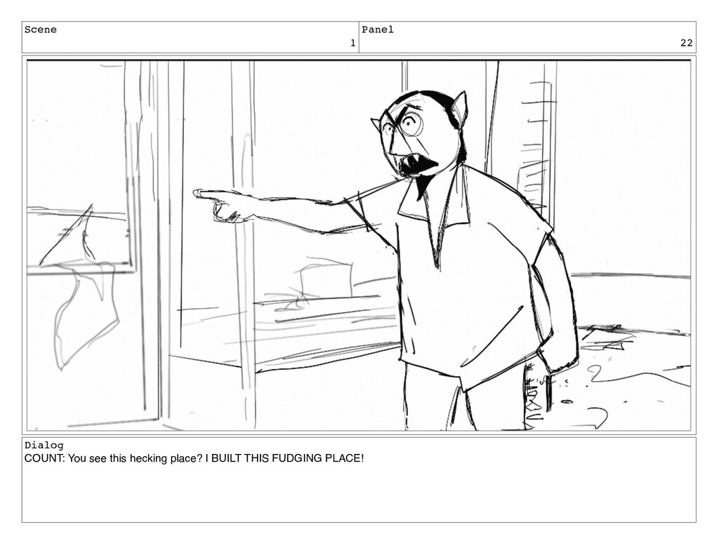 Scene 1 Panel 22 Dialog COUNT: You see this hec...