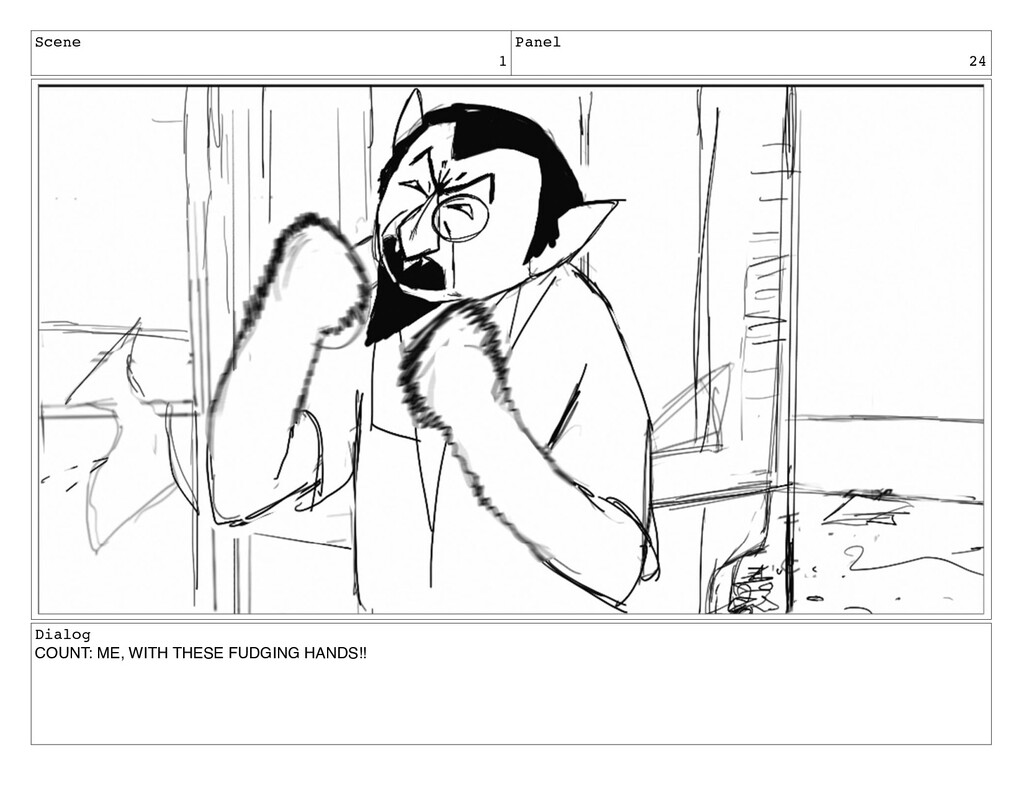 Scene 1 Panel 24 Dialog COUNT: ME, WITH THESE F...