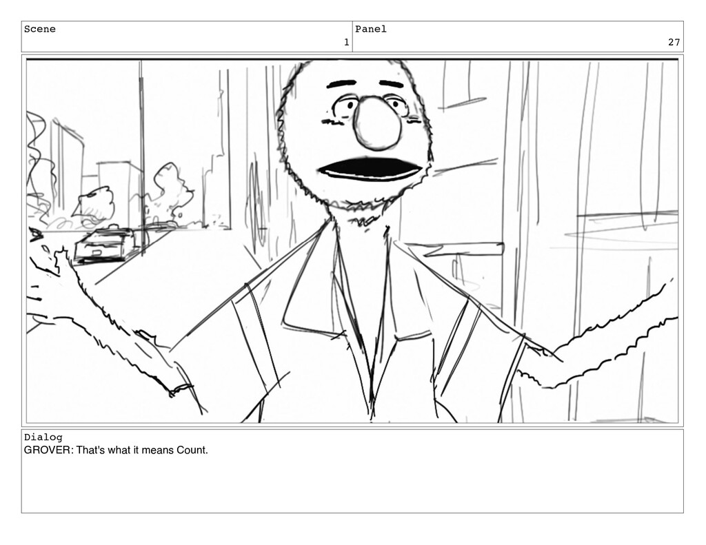 Scene 1 Panel 27 Dialog GROVER: That's what it ...