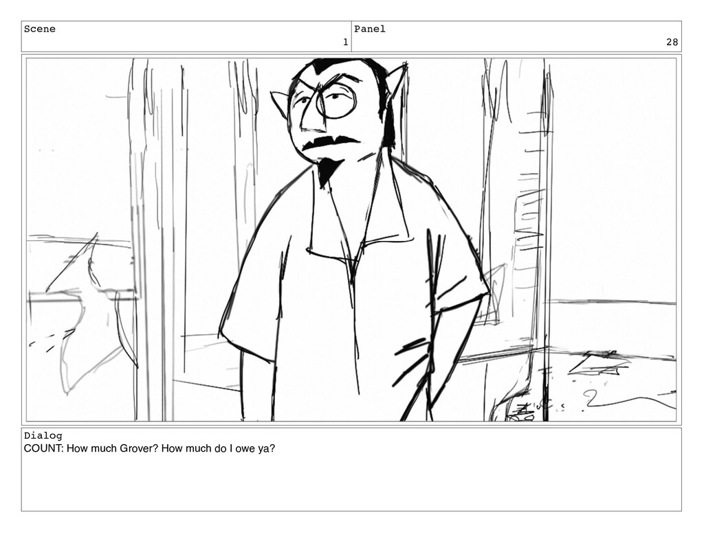 Scene 1 Panel 28 Dialog COUNT: How much Grover?...