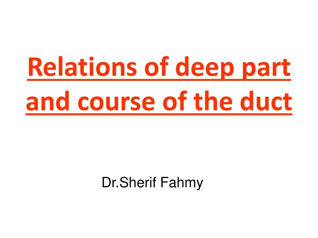 Relations of deep part and course of the duct D...