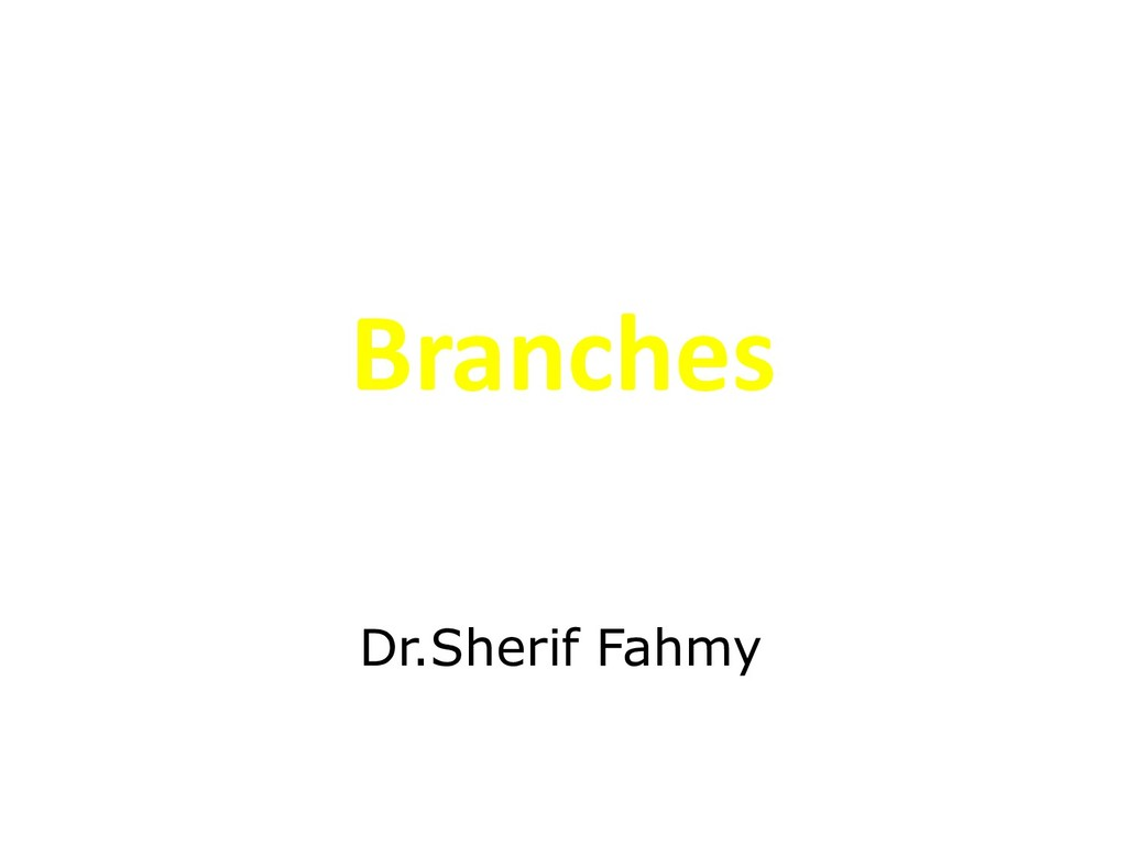 Branches Dr.Sherif Fahmy
