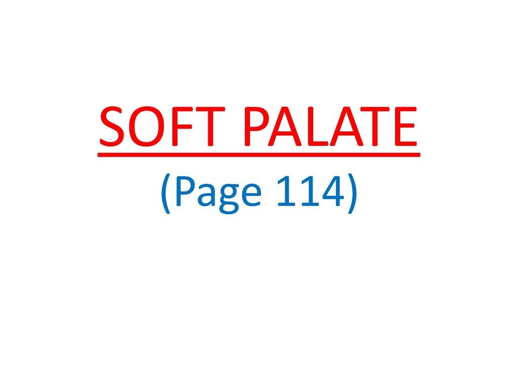 SOFT PALATE (Page 114)