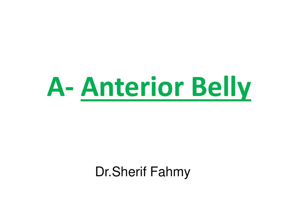 A- Anterior Belly Dr.Sherif Fahmy