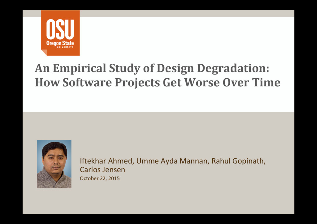 An Empirical Study of Design Degradation: How S...