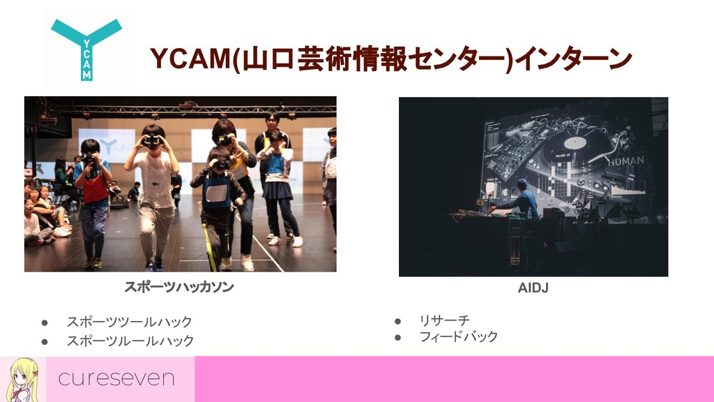 cureseven YCAM(山口芸術情報センター)インターン スポーツハッカソン ● スポー...
