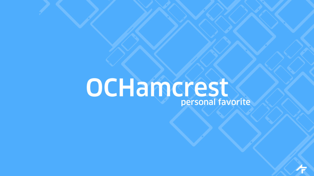 OCHamcrest personal favorite