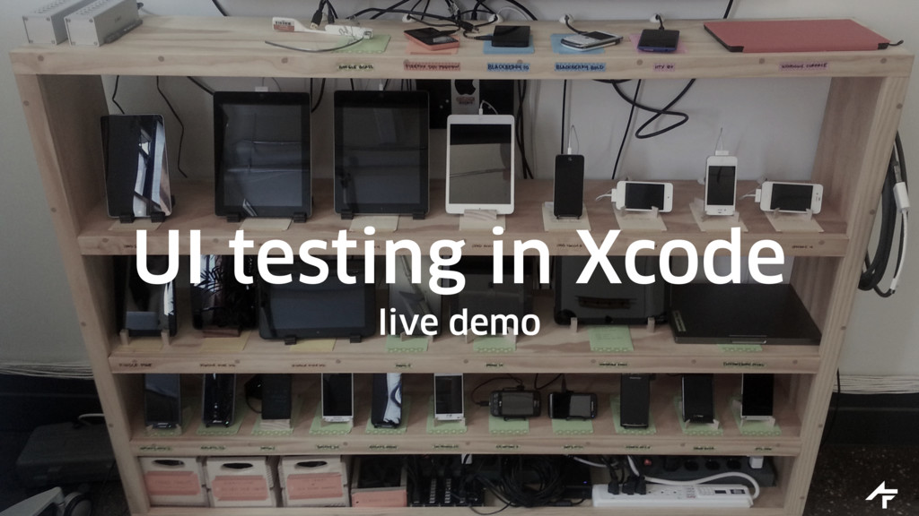 UI testing in Xcode live demo