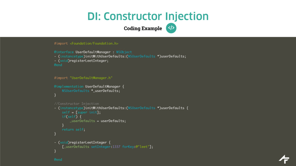 Coding Example DI: Constructor Injection #impor...