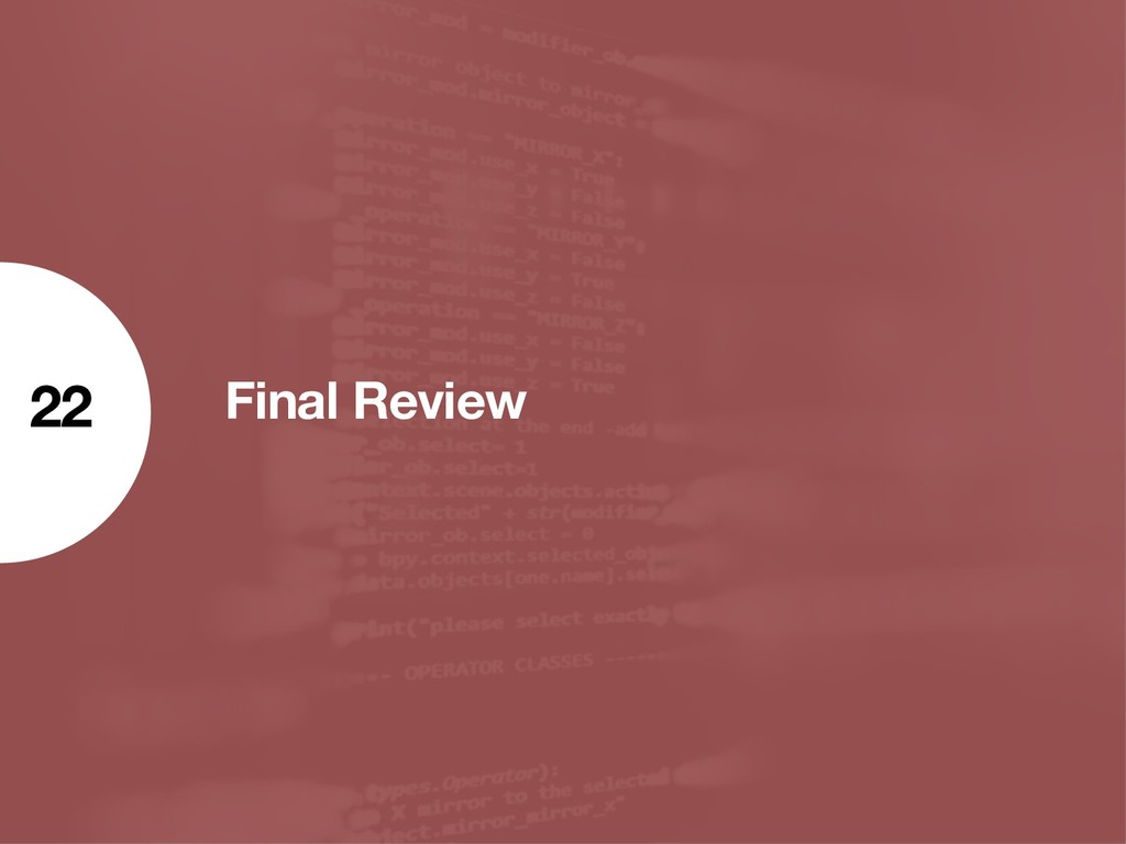 Final Review 22
