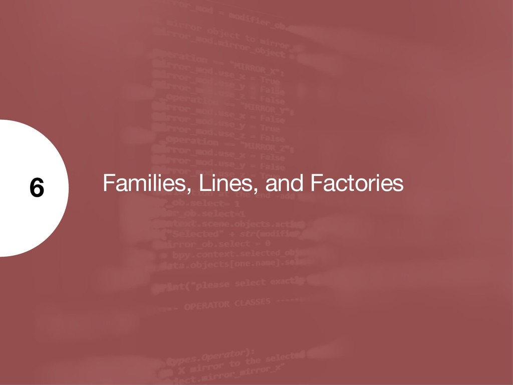Families, Lines, and Factories 6
