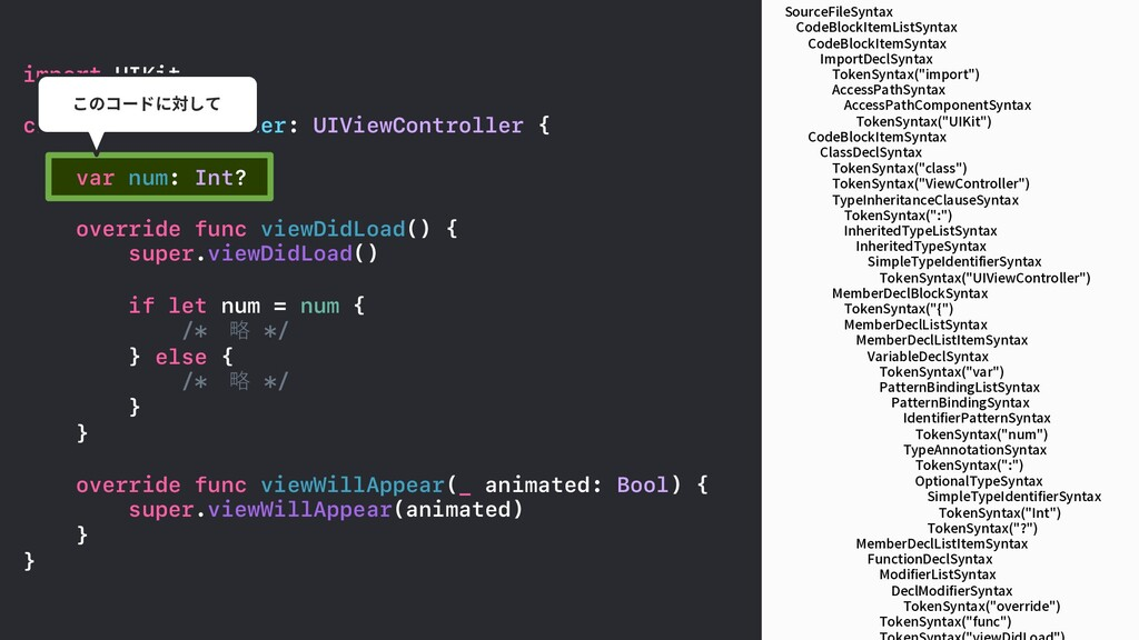 SourceFileSyntax CodeBlockItemListSyntax CodeBl...