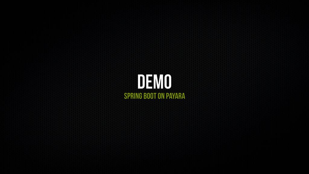 Demo Spring Boot on payara