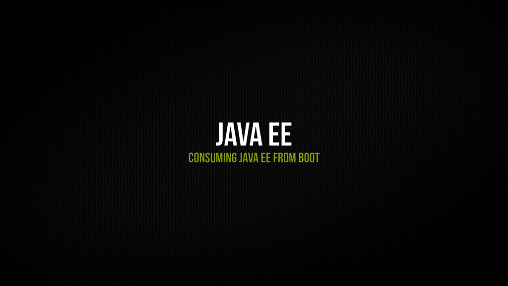 Java EE Consuming Java EE From Boot