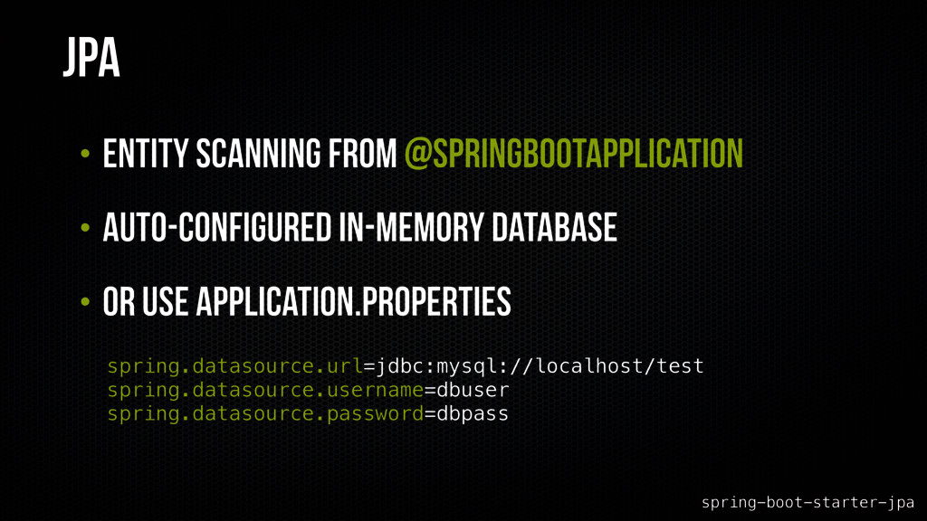 JPA • Entity scanning from @SpringBootApplicati...