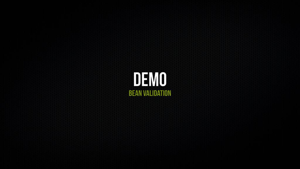 Demo Bean validation