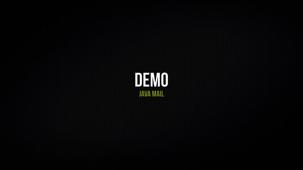 Demo Java mail
