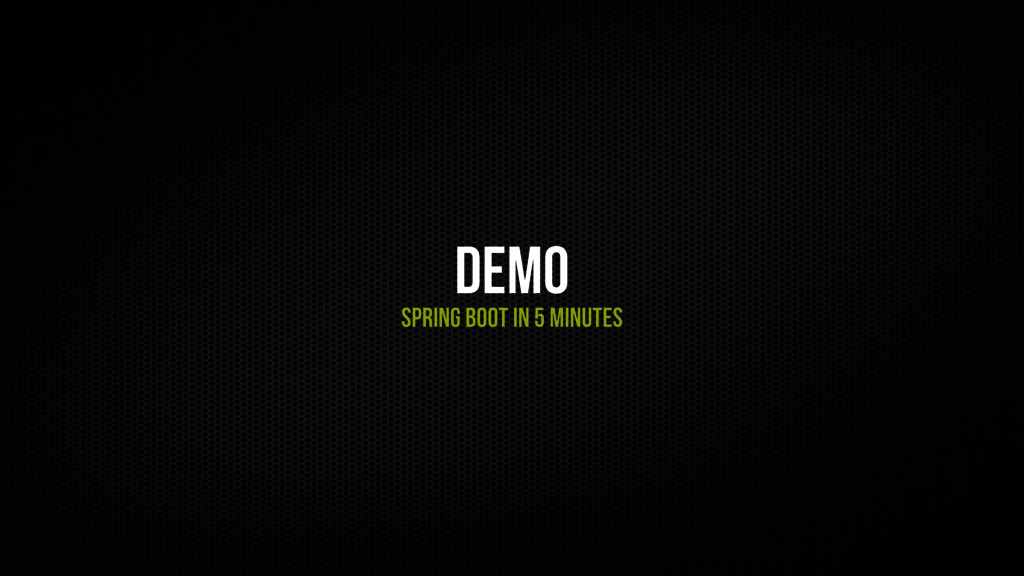 Demo Spring Boot in 5 minutEs