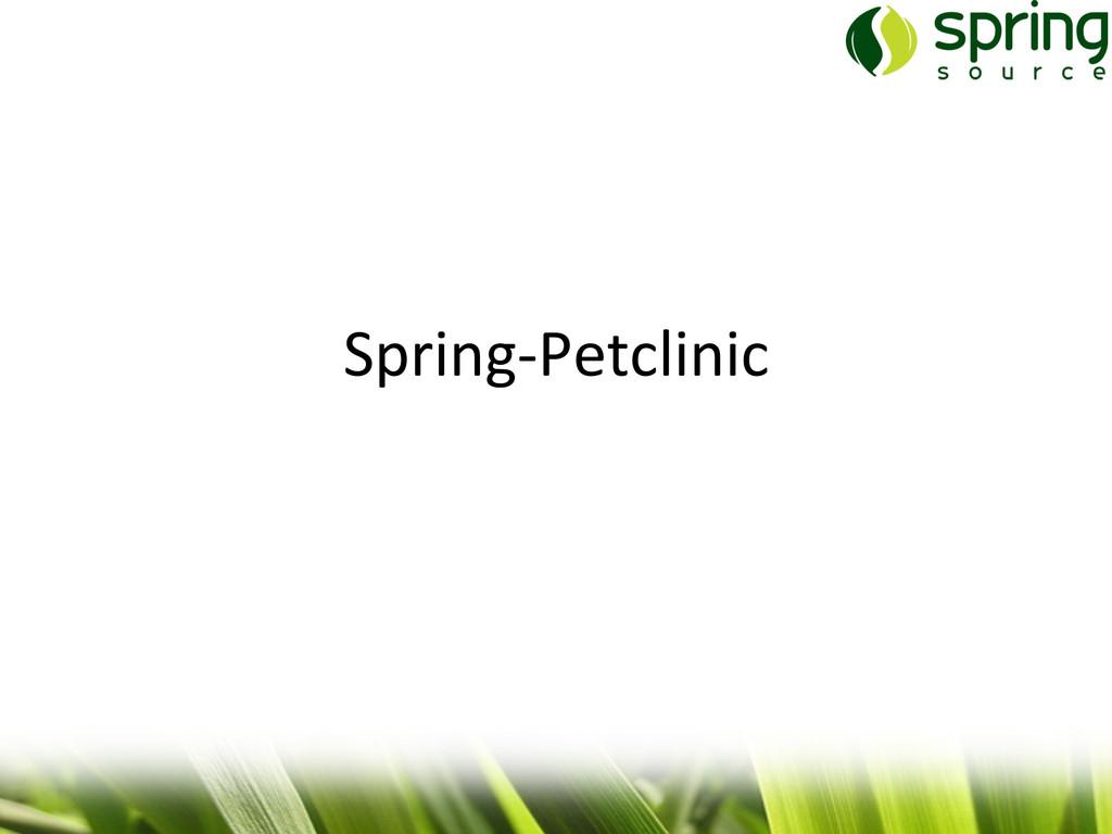 Spring-‐Petclinic