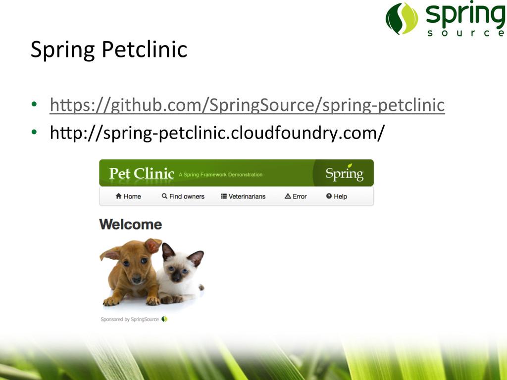 Spring Petclinic  • h/ps://github.com/Sp...