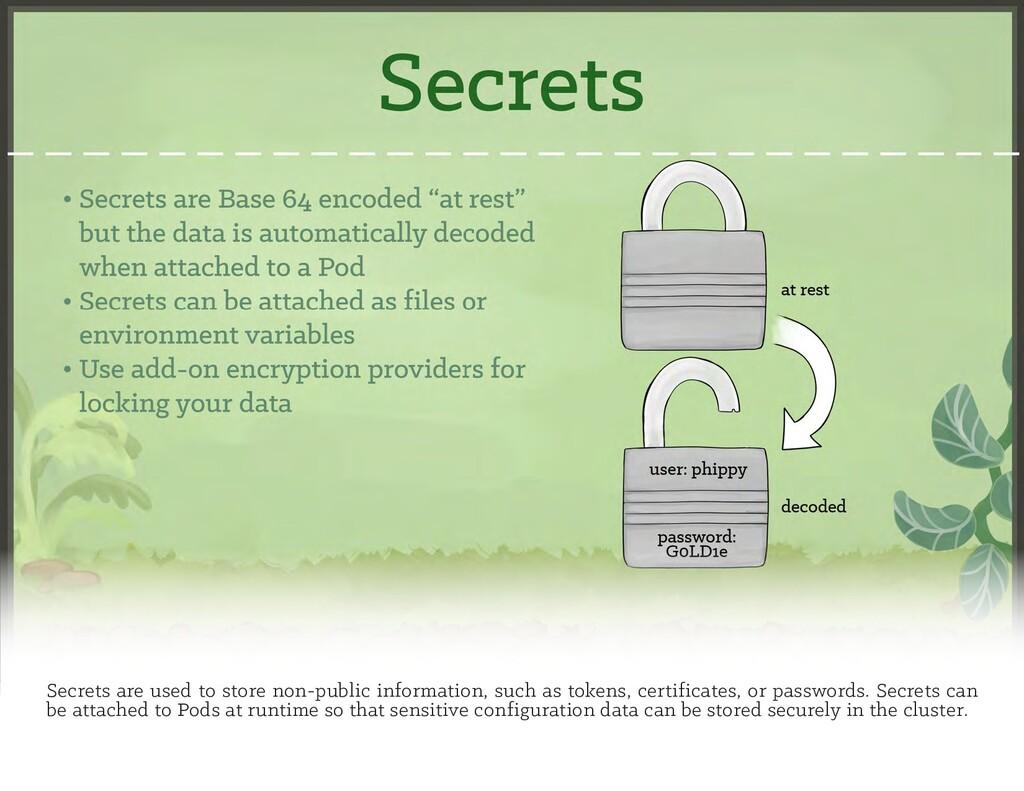 Secrets are used to store non-public informatio...