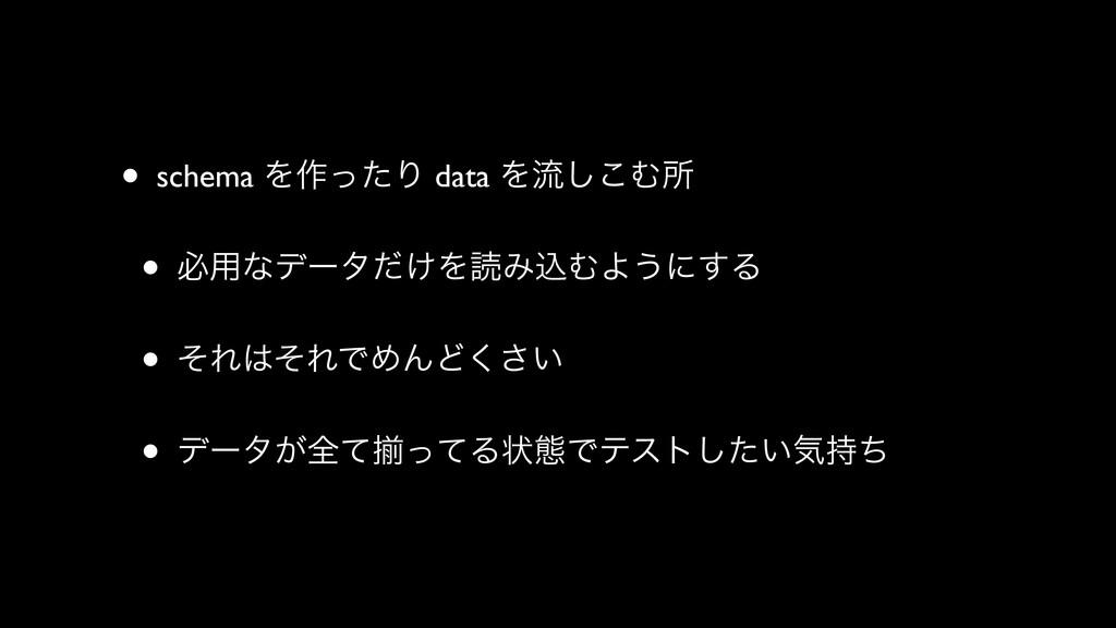• schema Λ࡞ͬͨΓ data Λྲྀ͜͠Ήॴ • ඞ༻ͳσʔλ͚ͩΛಡΈࠐΉΑ͏ʹ͢Δ...