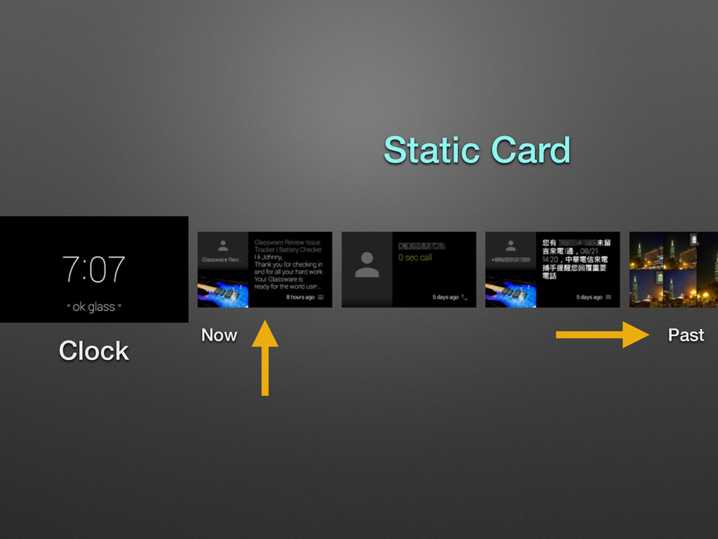 Clock Static Card Now Past