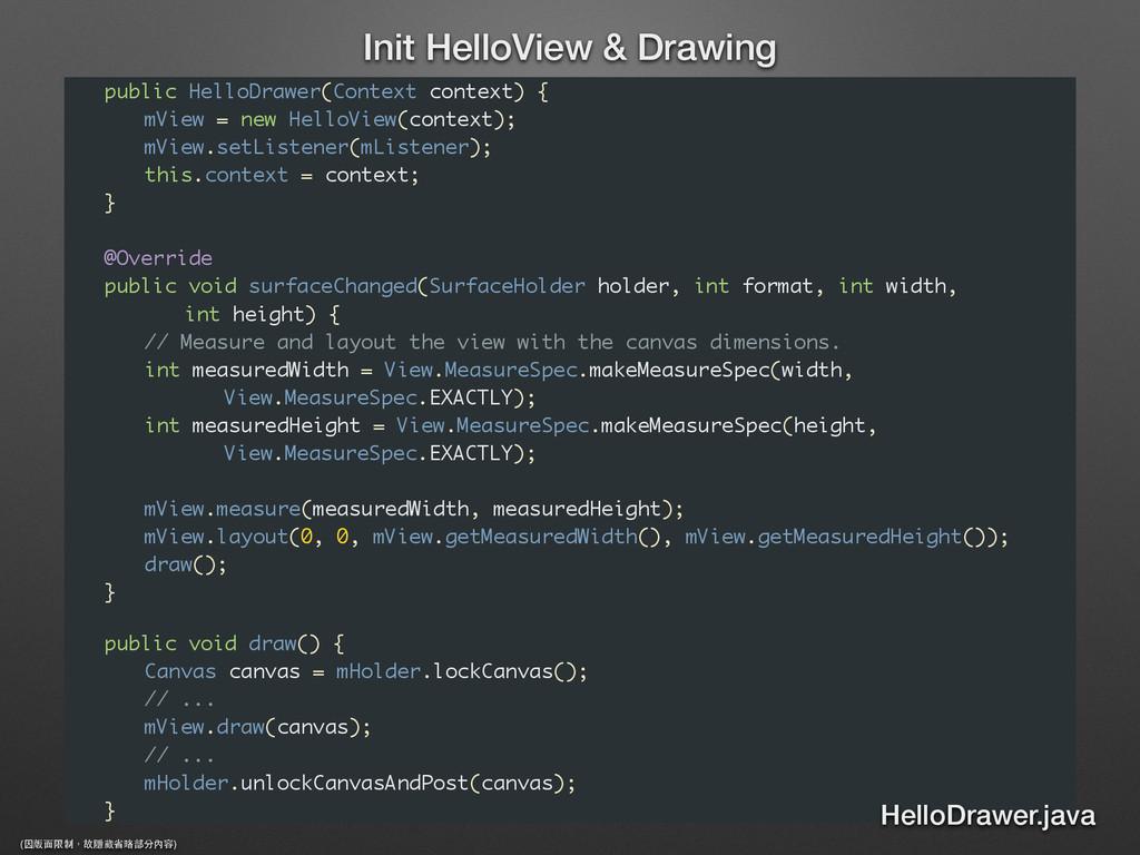 public HelloDrawer(Context context) { mView = n...